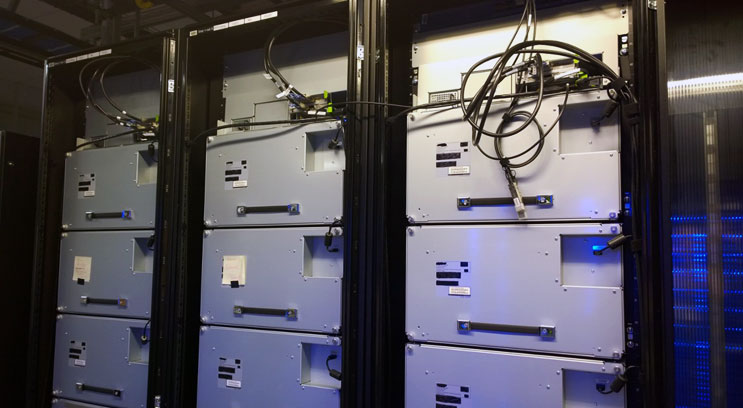 BluRay cold storage devices inside a Facebook data center