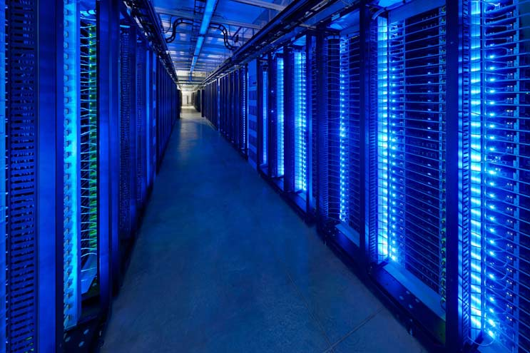 Facebook servers in Prineville data center
