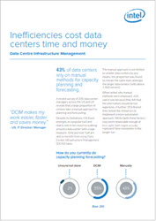 Download this Intel white paper on how Inefficiencies cost data centers time and money