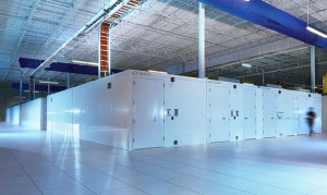 Modular data centers fill a portion of the IO Phoenix data center. (Photo: IO)