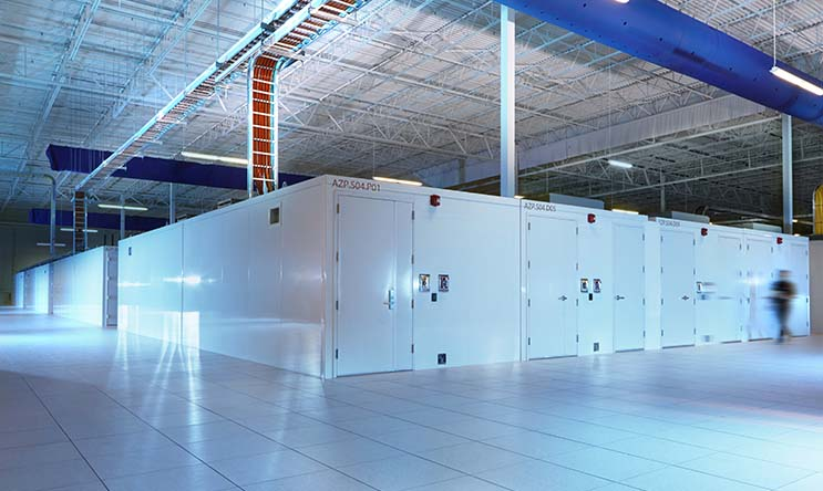 Modular data centers in an IO data center