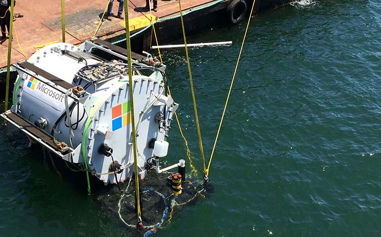 A module for Microsoft's experimental underwater data center