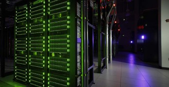 High-density cloud servers inside a data center operated by Rackspace. (Photo: Rackspace)