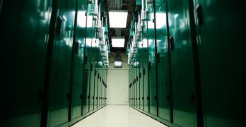 An aisle inside a ScaleMatric data center, with its custom containment colo cabinets. (Image: ScaleMatrix)