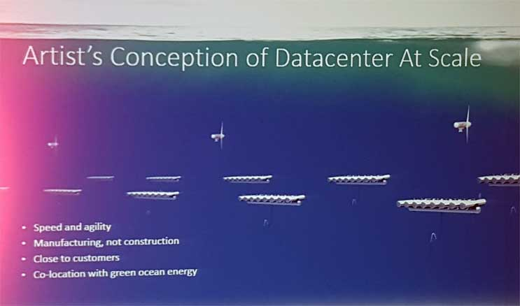 Undersea data center containers could be grouped together and lowered to the ocean floor. (Image: Microsoft)