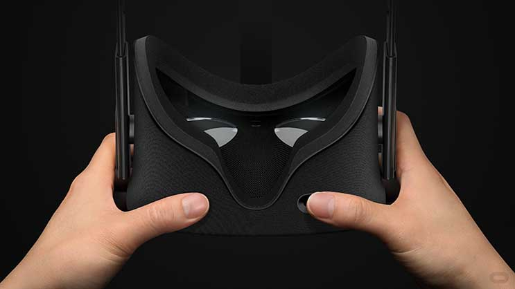 The Oculus Rift virtual reality headset, which hits retail stores this weekend. (Photo: Oculus)