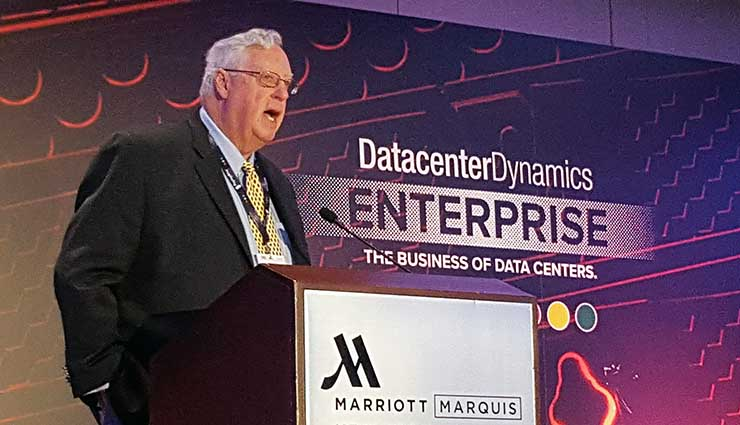 Bruce Taylor, Executive VP for North America at DatacenterDynamics, speaks at a recent event. (Photo: Rich Miller)