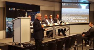 A panel at the CapRate New York Data Center Summit in April 2016. (Photo: Rich Miller)