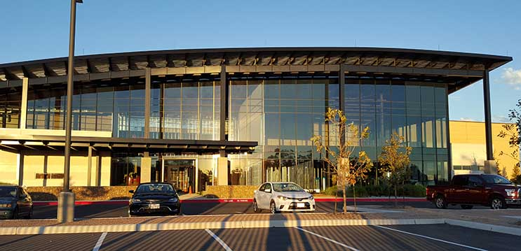 The new CyrusOne data center in San Antonio, where it has reportedly signed a 9-megawatt lease with Microsoft. (Photo: Rich Miller)