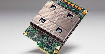 Google's Tensor Processing Unit, a custom ASIC designed to crunch data for machine learning workloads. (Photo: Google)