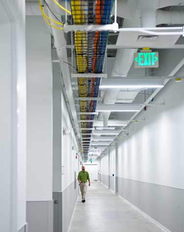 A corridor in a Green House Data facility. (Photo: Green House Data)