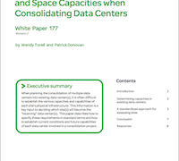 Data Center Consolidation Space Capabilities