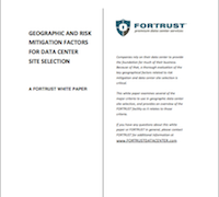 Geography Risks for Data Centers