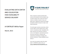 Evaluating Data Center Service Delivery