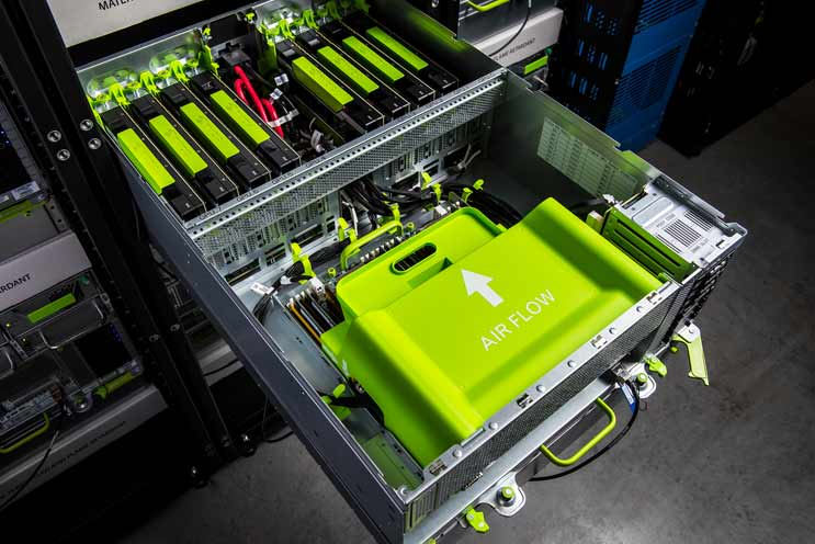 Big Sur is a 4U chassis packed with eight NVIDIA M40 GPUs (Photo: Facebook)