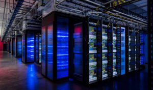 Rows of custom GPU-powered machine learning servers inside a Facebook data center. Today our Executive Roundtable looks at the impact of new technologies on the data center. (Photo: Facebook)