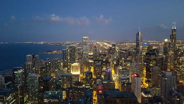 Downtown Chicago, as seen from the 94th floor of the John Hancock Center. (Photo: Rich Miller)