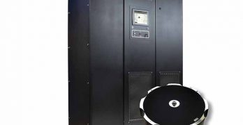 The Active Power CleanSource 275XT flywheel UPS system, which offers longer runtime than previous flywheel systems. (Image: Active Power)