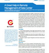 A Great Help in Remote Management of Data Center