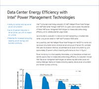 Data Center Energy Efficiency with Intel Power Management Technologies