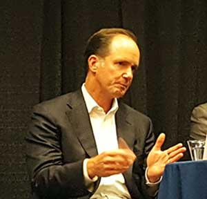 Pete Marin, President and CEO of T5 Data Centers, speaks last week at an event in Virginia. (Photo: Rich Miller)