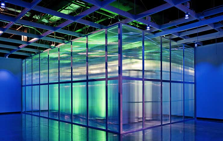An air containment system inside a data hall at the Aligned Data Center facility in Plano, Texas near Dallas. (Photo: Aligned)