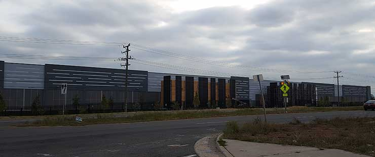 Another of the three new data centers being built by COPT, reportedly for Amazon Web Services (Photo: Rich Miller)