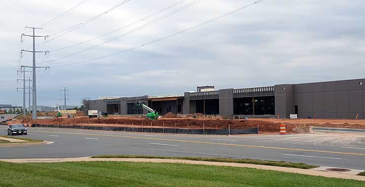 The first phase of Intergate.Ashburn, the new data center campus from Sabey Data Centers, is under construction. (Photo: Rich Miller)