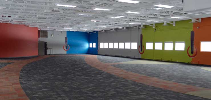 Expansion space at the Fibre Centre facility in Moncton, a city in New Brunswick, Canada. (Photo: Fibre Centre)
