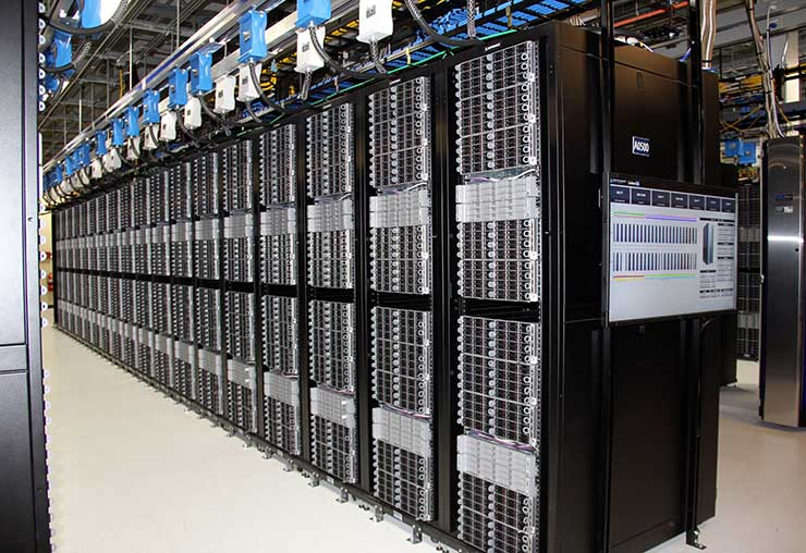 A row of servers inside the LinkedIn Portland data center. The Project Altair design supports densities of up to 24 kW per rack. (Photo: LinkedIn)