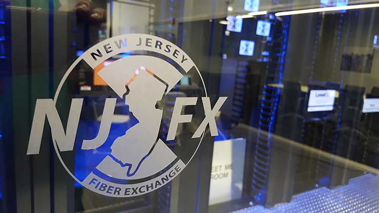 The Meet-Me-Room at the NJFX data center in Wall Township, N.J. (Photo: Rich Miller)
