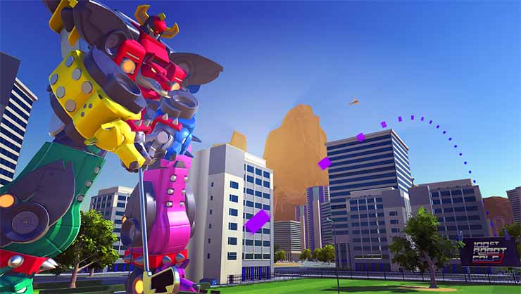 Among the new PlayStation VR titles is 100 Foot Robot Golf. (Image: Sony)