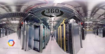 Google has been an early adopter of virtual reality, offering a 360-degree tour of one of its data centers. (Image: YouTube)
