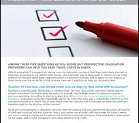 Five Questions for Negotiating with Colocation Providers