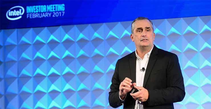 Intel CEO Brian Krzanich speaks at the company's investor meeting on Thursday. (Photo: Intel)