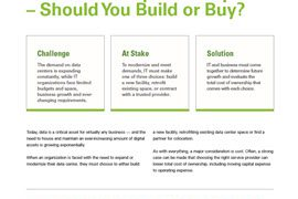 Data Center Expansion Options – Should You Build or Buy?