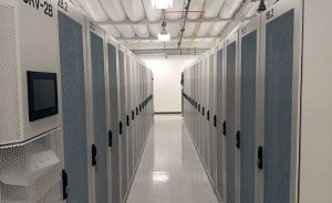 High-density racks inside the Colovore data center in Santa Clara, Calif. (Photo: Rich Miller)
