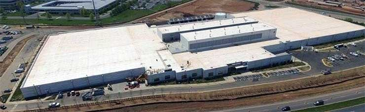 An aerial view of the ACC9 data center, part of DuPont Fabros' Ashburn campus. (Photo: DFT)