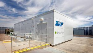 An SRP DataStation housed at the intersection of utility transmission lines offers one vision of edge infrastructure. (Photo: SRP)