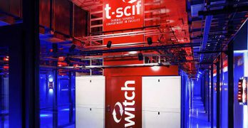 A TSCIF aisle containment system inside the SUPERNAP campus in Las Vegas. (Photo: Switch)