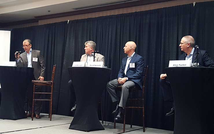 A panel at the recent CapRate Mid-Atlantic Data Center Summit. (Photo: Rich Miller)