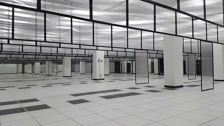 This finished data hall inside the QTS Data Centers Richmond campus is pre-configured for hyperscale data centers tenants, with 6 megawatts of power capacity. (Photo: Rich Miller)