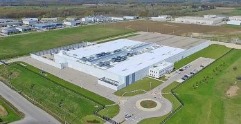 An aerial view of the Ascent data center in Cambridge, Ontario, acquired from an enterprise customer that will remain as a tenant. (Photo: Ascent)