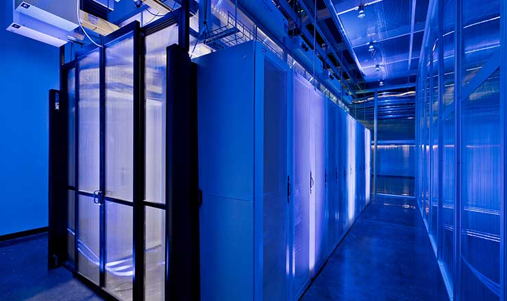 A data center enclosure inside the Aligned Data Centers facility in Plano, Texas. (Photo: Aligned)