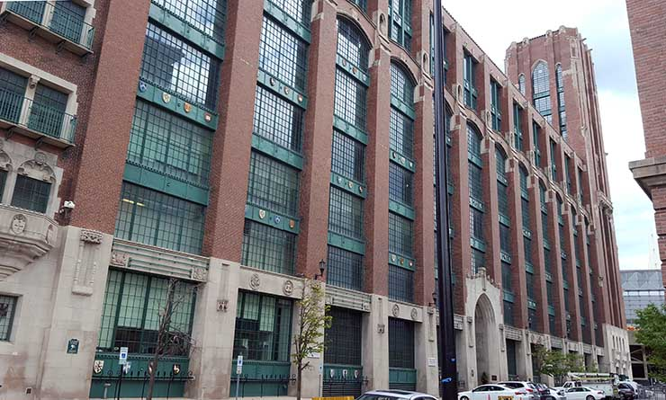 Digital Realty's 350 East Cermak building is the largest Internet data hub in Chicago. (Photo: Rich Miller)