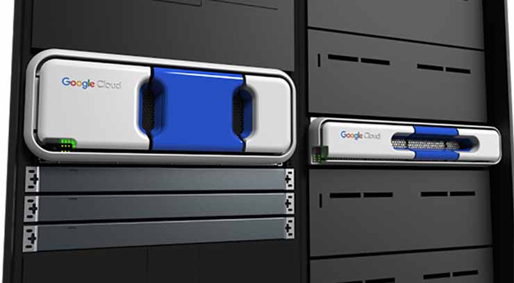 Several form factors for the Google Transfer Appliance, which allows customers to ship large volumes of data to be ingested by the Google Cloud Platform. (Photo: Google)