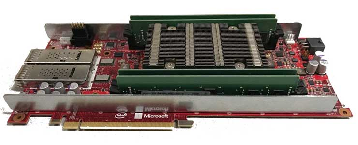 Microsoft's Project Brainwave hardware, which leverages Intel Stratix 10 FPGAs. (Photo: Microsoft)