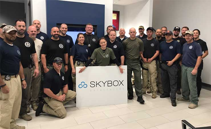 The Skybox Datacenters team in their Houston facility during Hurricane Harvey. (Photo: Skybox)