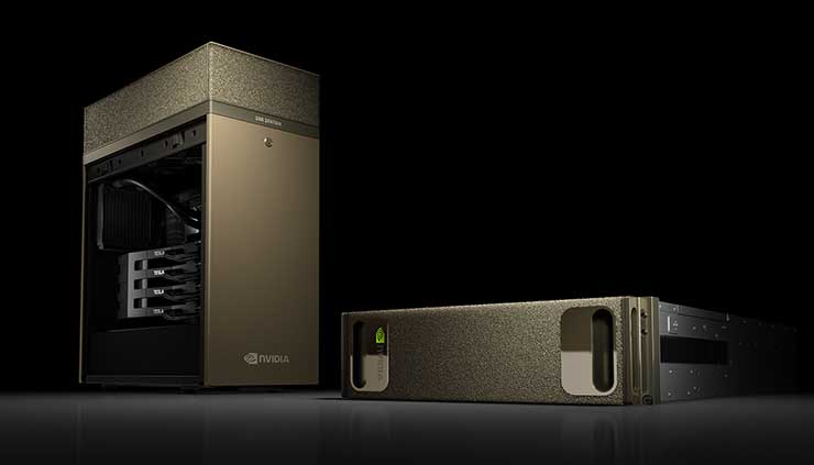 "The NVIDIA DGX Station is a desktop-sized ""supercomputer in a box"" for AI applications. (Photo: NVIDIA)"