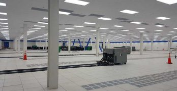 A data hall undergoing commissioning in Ashburn, Virginia. (Photo: Rich Miller)